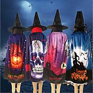 Недорогие -4 шт. Тыквенный череп с рисунком призрака плащ шляпа косплей костюм для вечеринки халат накидка пончо