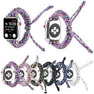 Недорогие -Нейлон тканый для серии Apple Watch 5/4/3/2/1 ремешок для часов парашютный трос на открытом воздухе ремешок для браслета для iwatch 38 мм / 40 мм / 42 мм / 44 мм