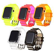 Недорогие -спортивный ремешок для apple watch band series 5/4/3/2/1 силиконовый прозрачный для iwatch ремешок 38 мм / 40 мм / 42 мм / 44 мм
