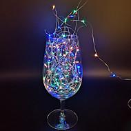 Недорогие -5 м гирлянды 50 светодиодов теплый белый белый многоцветные фея гирлянды водонепроницаемые рождественские свадебные вечеринки декоративные медный провод серебряная линия AA батареи с питанием 1 шт.