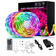 Недорогие -65.6ft-20m светодиодные ленты сверхдлинные светодиодные ленты rgb светодиодные ленты 5050 гибкие светодиодные фонари с изменяющимся цветом с 44 клавишами ИК-пульт для спальни, кухни, украшения дома