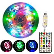Недорогие -33ft сказочные гирлянды, многоцветные RGB-лампы для сна, USB 100, водонепроницаемые, меняющие цвет, мерцающие огни, с контроллером 32 клавиш