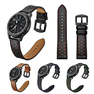 Недорогие -Ремешок для часов для Samsung Gear S3 Samsung Galaxy Кожаный ремешок Натуральная кожа Повязка на запястье