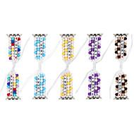 Недорогие -Diy lucky beads плетеные для apple watch series 5/4/3/2/1 эластичный ремешок для iwatch 38 мм / 40 мм / 42 мм / 44 мм женский браслет ручной работы для девочек