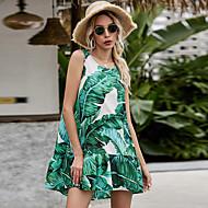 Недорогие -Жен. Платье прямого кроя Мини-платье - Без рукавов С принтом Пэчворк С принтом Лето На каждый день Повседневные 2020 Зеленый S M L