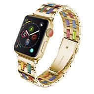 Недорогие -совместим с ремешком для часов apple watch 38 мм 40 мм 44 мм 42 мм модные браслеты женские для серии iwatch 5 4 3 2 1 металлический ремешок с застежкой из нержавеющей стали и смолы спорт