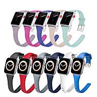 Недорогие -Силиконовый ремешок для Apple Watch Band 38 мм 42 мм тонкий резиновый браслет для смарт-часов спортивный браслет iwatch serie 5 4 3 se 6 40 мм 44 мм