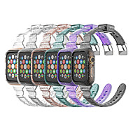Недорогие -Прозрачный силиконовый ремешок для Apple Watch 6 5 4 ремешок с блестящими деталями для iwatch serie 4/5/6 / se 42 мм 38 мм 40 мм 44 мм