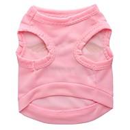ieftine -Pisici Câine Tricou Îmbrăcăminte Câini Roz Costume Bumbac XS S