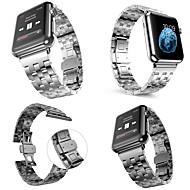 Недорогие -Ремешок для часов для Apple Watch Series 6 / SE / 5/4 44 мм / Apple Watch Series 6 / SE / 5/4 40 мм / Apple Watch Series 3/2/1 38 мм Apple Классическая застежка Нержавеющая сталь Повязка на запястье
