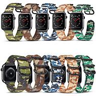 Недорогие -Ремешок для часов для Apple Watch Series 6 / SE / 5/4 44 мм / Apple Watch Series 6 / SE / 5/4 40 мм / Apple Watch Series 3/2/1 38 мм Apple Классическая застежка Нейлон Повязка на запястье