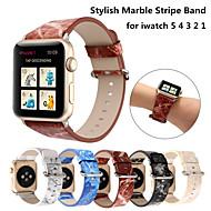 Недорогие -Стильный кожаный ремешок с мраморной полоской для Apple Watch Band Series 6 SE 5 4 3 2 для iwatch 38/42 мм 40/44 мм