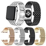 Недорогие -Ремешок для часов в стиле бабочки из нержавеющей стали в форме капли для apple watch 38 мм 40 мм 42 мм 44 м ремешок iwatch 1 2 3 4 5 6 se браслет