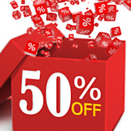 50% OFF & Up