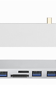 cheap -Type-C Adapter <1m / 3ft 1 to 5 Aluminum USB Cable Adapter For Macbook / MacBook Air / MacBook Pro