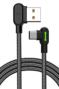 cheap -MCDODO 90 Degree Elbow Gaming Cable Type-C Data Sync Charging Cord