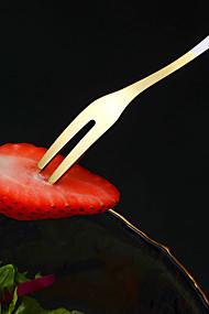 abordables -4pcs fourchette à fruits ensemble créatif mignon en acier inoxydable insert de fruits ménage cuillère à dessert mélange
