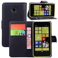 povoljno -Θήκη Za Nokia Lumia 925 / Nokia Lumia 630 / Nokia Novčanik / Utor za kartice / sa stalkom Korice Jednobojni Tvrdo PU koža