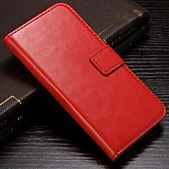 olcso -Case Kompatibilitás Apple iPhone 8 Plus / iPhone 8 / iPhone 7 Plus Pénztárca / Kártyatartó / Állvánnyal Héjtok Egyszínű Kemény PU bőr