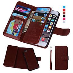 رخيصةأون -غطاء من أجل Apple iPhone 8 Plus / iPhone 8 / iPhone 7 Plus محفظة / حامل البطاقات / مع نافذة غطاء كامل للجسم لون سادة قاسي جلد PU