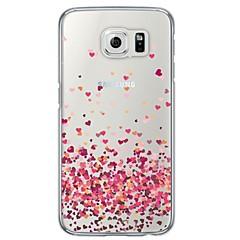 رخيصةأون -غطاء من أجل Samsung Galaxy S6 / S5 / S4 شفاف / نموذج غطاء خلفي قلب ناعم TPU