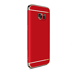 olcso -Case Kompatibilitás Samsung Galaxy J7 Prime / J7 (2016) / J7 Galvanizálás Fekete tok Tömör szín Kemény PC