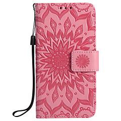 رخيصةأون -غطاء من أجل Samsung Galaxy S7 edge / S7 / S6 edge plus محفظة / حامل البطاقات / مع حامل غطاء كامل للجسم ماندالا نمط قاسي جلد PU