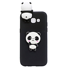 olcso -Case Kompatibilitás Samsung Galaxy A3 (2017) / A5 (2017) / A7 (2017) Minta / DIY Fekete tok 3D figura / Panda Puha TPU