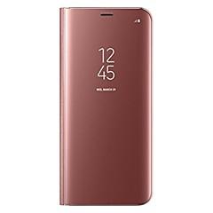 رخيصةأون -غطاء من أجل Samsung Galaxy S8 Plus / S8 مع حامل / قلب غطاء كامل للجسم لون سادة قاسي جلد PU