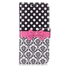 رخيصةأون -غطاء من أجل Samsung Galaxy S8 Plus / S8 / S7 edge محفظة / حامل البطاقات / قلب غطاء كامل للجسم قرميدة / الطباعة الدانتيل قاسي جلد PU