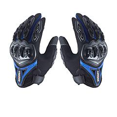 olcso -férfi kesztyű mikroszálas kemény csukló vízálló lélegző powerports motorkerékpár minden ujj kesztyű érintőképernyő