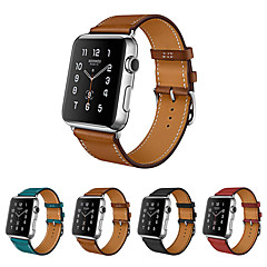 Недорогие -Ремешок для часов для Серия Apple Watch 5/4/3/2/1 Apple Кожаный ремешок Натуральная кожа Повязка на запястье