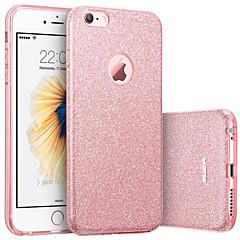 olcso -Case Kompatibilitás Apple iPhone 8 Plus / iPhone 8 / iPhone 7 Plus IMD Fekete tok Csillogó Puha TPU