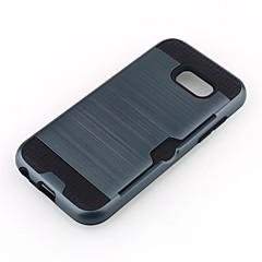 olcso -Case Kompatibilitás Samsung Galaxy A5 (2017) / A7 (2017) Kártyatartó Fekete tok Páncél Kemény TPU