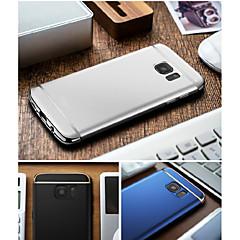olcso -Case Kompatibilitás Samsung Galaxy S8 Plus / S8 / S7 edge Galvanizálás Fekete tok Egyszínű Kemény PC