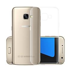 olcso -Case Kompatibilitás Samsung Galaxy A5 (2017) Átlátszó Fekete tok Egyszínű Puha TPU