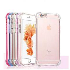 رخيصةأون -غطاء من أجل Apple iPhone X / iPhone 8 Plus / iPhone 8 ضد الصدمات / شفاف غطاء خلفي لون سادة ناعم TPU
