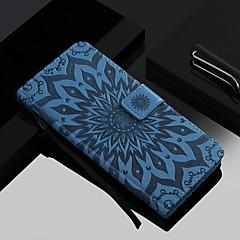 ieftine -Maska Pentru Apple iPhone 11 / iPhone 11 Pro / iPhone 11 Pro Max Portofel / Titluar Card / Cu Stand Carcasă Telefon Floare Greu PU piele