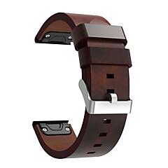 Недорогие -Ремешок для часов для Fenix 5 / Fenix 5 Plus Garmin Кожаный ремешок Натуральная кожа Повязка на запястье