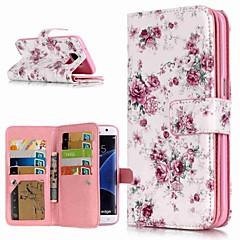 رخيصةأون -غطاء من أجل Samsung Galaxy S9 / S9 Plus / S8 Plus محفظة / حامل البطاقات / مع حامل غطاء كامل للجسم زهور قاسي جلد PU