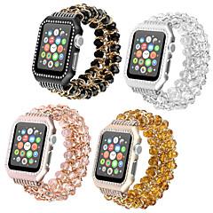 Недорогие -Ремешок для часов для Серия Apple Watch 5/4/3/2/1 Apple Дизайн украшения / Инструменты сделай-сам Нержавеющая сталь / Керамика Повязка на запястье