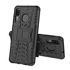 olcso -Case Kompatibilitás Samsung Galaxy A5(2018) / A6 (2018) / A6+ (2018) Ütésálló / Állvánnyal Fekete tok Páncél Kemény PC