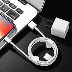 cheap -Lightning Cable 1m-1.99m / 3ft-6ft High Speed / Quick Charge PVC(PolyVinyl Chloride) USB Cable Adapter For iPhone