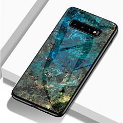 رخيصةأون -غطاء من أجل Samsung Galaxy S9 / S9 Plus / S8 Plus ضد الصدمات / نموذج غطاء خلفي حجر كريم قاسي TPU / زجاج مقوى