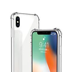 رخيصةأون -غطاء من أجل Apple iPhone XS / iPhone XR / iPhone XS Max ضد الصدمات / شفاف غطاء خلفي لون سادة ناعم TPU