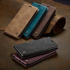 voordelige -caseme case magnetische flip portemonnee telefoonhoesjes retro effen gekleurde hardcover kaartsleuven met standaard voor iphone x / xs max / xr / 7/8 plus / 6 / 6s plus / 5 / 5s / se