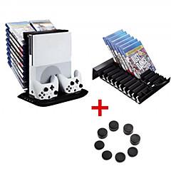 ieftine -xbox un suport încărcător subțire multifuncțional 4 în 1 accesorii încorporate pentru accesorii de răcire pentru ventilator negru
