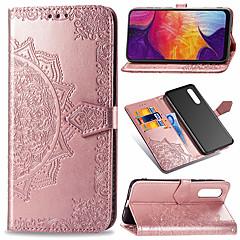 voordelige -hoesje Voor Samsung Galaxy Galaxy A7(2018) / Galaxy A9 (2018) / Galaxy A10 (2019) Portemonnee / Kaarthouder / Flip Volledig hoesje Bloem Hard PU-nahka / TPU