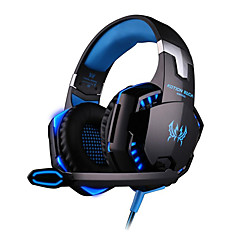 cheap -KOTION EACH G2000 Gaming Headset Wired Gaming Headphones Noise-Cancelling Music Stereo with Mic LED Light for PC Gamer