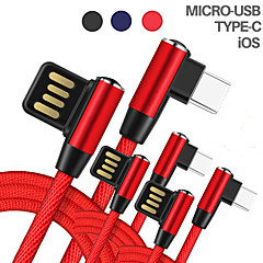 cheap -Micro USB Cable Braided Terylene / Nylon USB Cable Adapter For iPhone